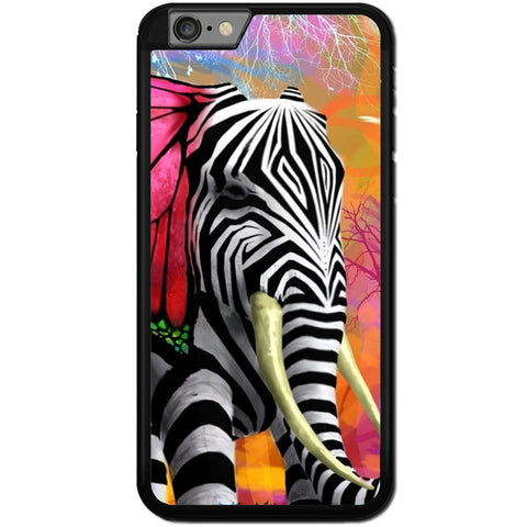 Fits Apple iPhone 7 PLUS - Zebra Elephant Case Phone Cover Y00033