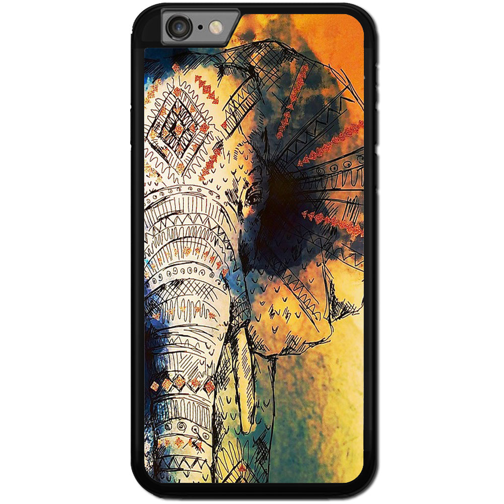 Fits Apple iPhone 6 PLUS & 6S PLUS - Aztec Elephant Case Phone Cover Y00047