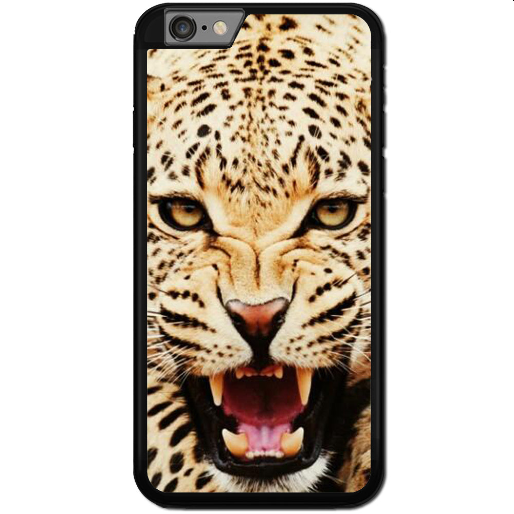 Fits Apple iPhone 6 PLUS & 6S PLUS - Leopard Angry Case Phone Cover Y00064