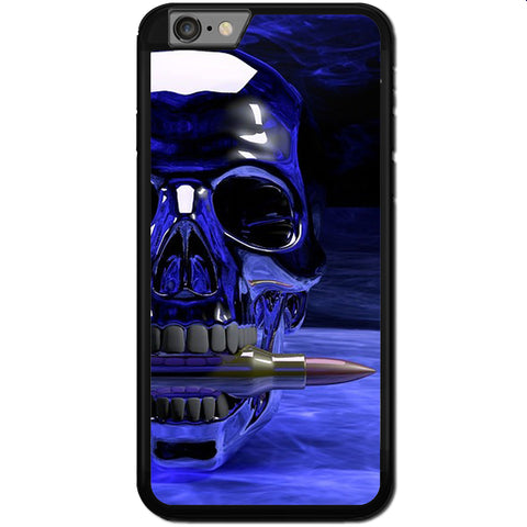 Fits Apple iPhone 7 PLUS - Skull Blue Cool Case Phone Cover Y00117