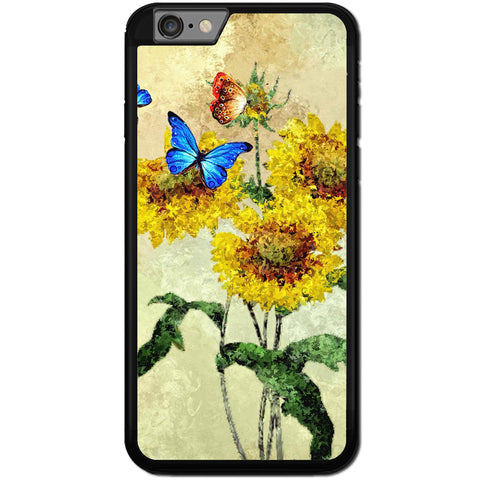Fits Apple iPhone 6 & 6S - Art Flower Yellow Case Phone Cover Y00237
