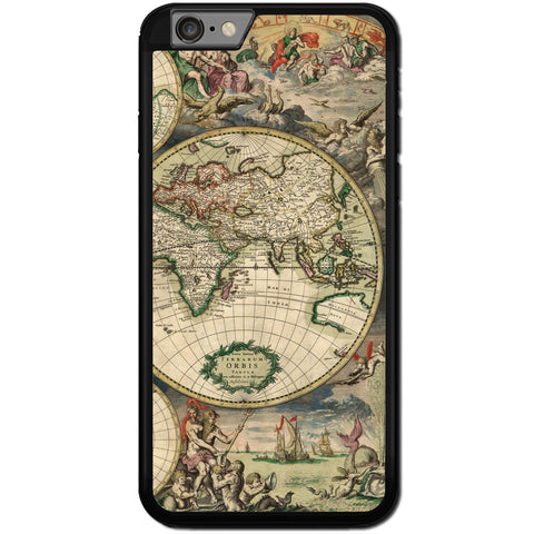 Fits Apple iPhone 6 & 6S - Ancient Map Case Phone Cover Y00391