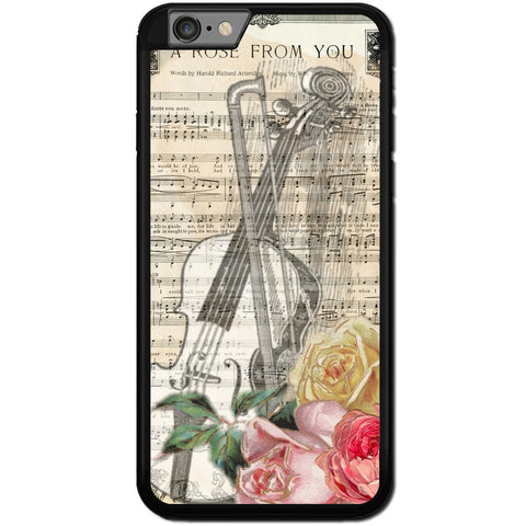 Fits Apple iPhone 6 PLUS & 6S PLUS - A Rose Music Case Phone Cover Y00628