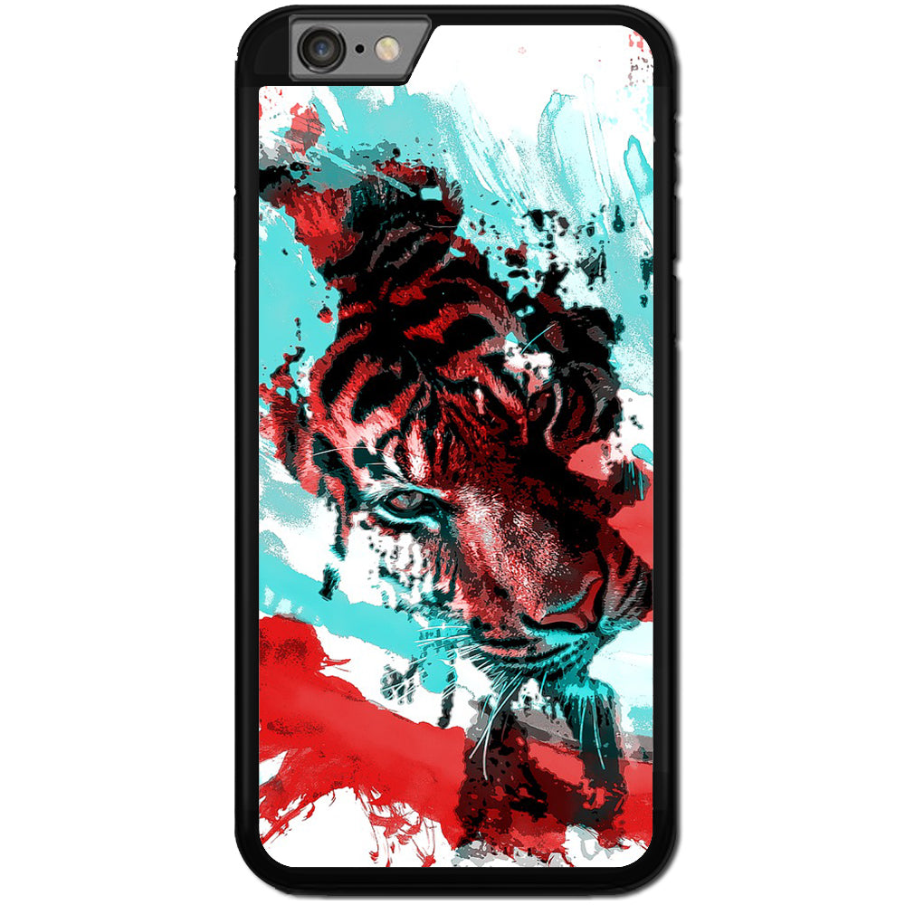 Fits Apple iPhone 6 & 6S - Abstract Tiger Case Phone Cover Y00794