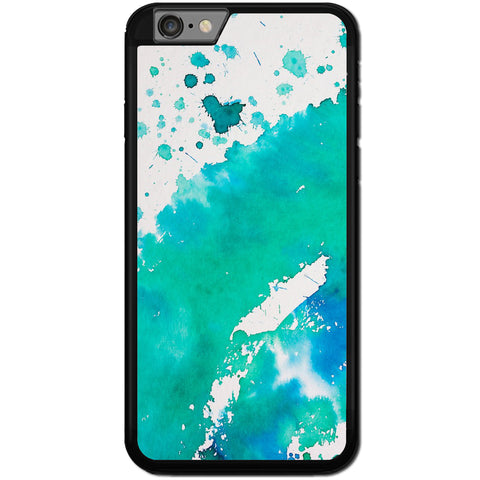 Fits Apple iPhone 6 & 6S - Aqua Watercolour Case Phone Cover Y00796
