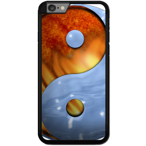 Fits Apple iPhone 8 - Ying Yang Fire Ice Case Phone Cover Y00949
