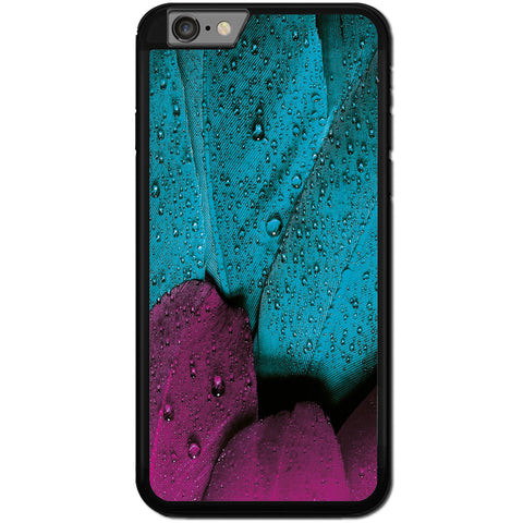 Fits Apple iPhone 8 PLUS - Teal Fushia Feather Case Phone Cover Y01429