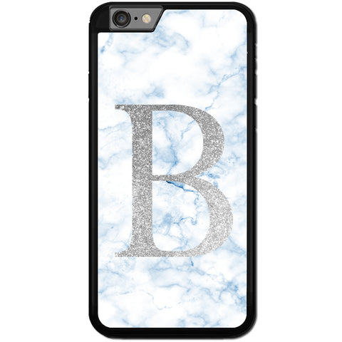 Fits Apple iPhone 8 PLUS - PERSONALISED Initial Blue Marble Case Phone Cover Y01516