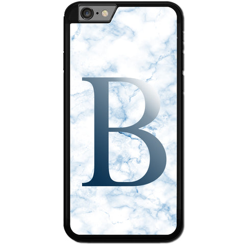 Fits Apple iPhone 6 PLUS & 6S PLUS - PERSONALISED Initial Blue Marble Case Phone Cover Y01517