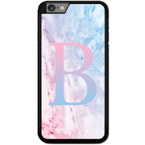 Fits Apple iPhone 6 & 6S - PERSONALISED Initial Pretty Marble Case Phone Cover Y01538