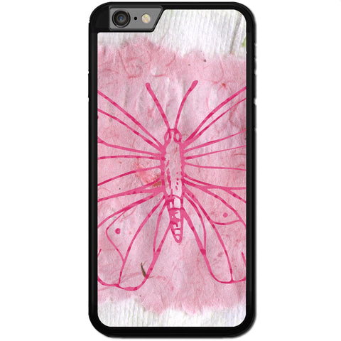 Fits Apple iPhone 6 & 6S - Butterfly Drawing Case Phone Cover Y01556