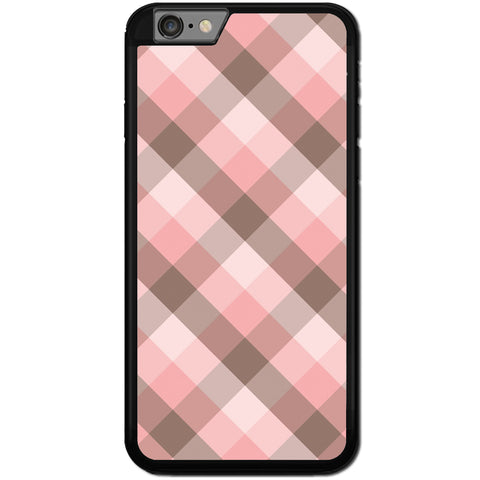 Fits Apple iPhone 6 & 6S - Pink Patchwork Case Phone Cover Y01558