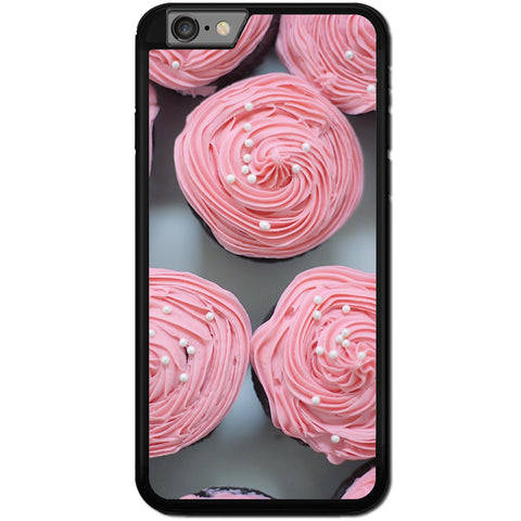 Fits Apple iPhone 6 & 6S - Pink Cupcakes Case Phone Cover Y01561