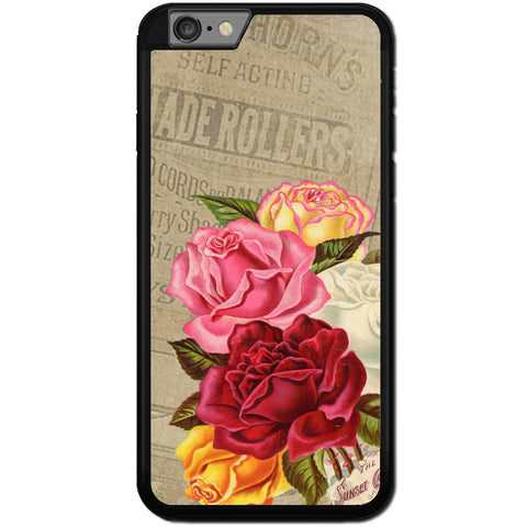 Fits Apple iPhone 6 & 6S - Sunset Roses Old Case Phone Cover Y01564
