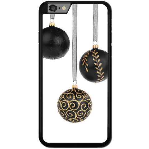 Fits Apple iPhone 8 PLUS - Black Xmas Baubles Case Phone Cover Y01626