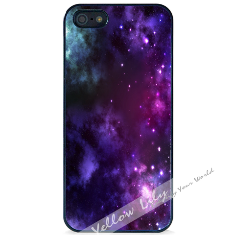 For Apple iPhone 4 4G 4S - Purple Galaxy Case Phone Cover Y01027