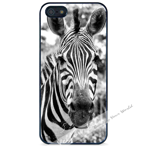 For Apple iPhone 5 5G 5S - Zebra Real Case Phone Cover Y01056