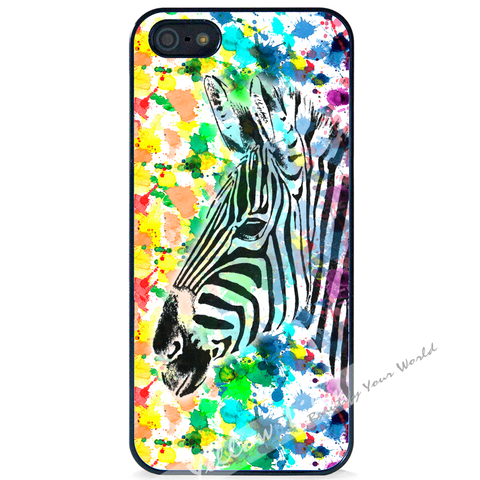 For Apple iPhone 5 5G 5S - Zebra Beauty Case Phone Cover Y01096