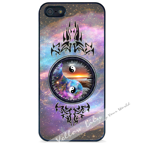 For Apple iPhone 5 5G 5S - Yin Yang Galaxy Case Phone Cover Y01129