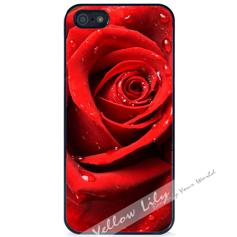 For Apple iPhone 4 4G 4S - Red Rose Case Phone Cover Y01141