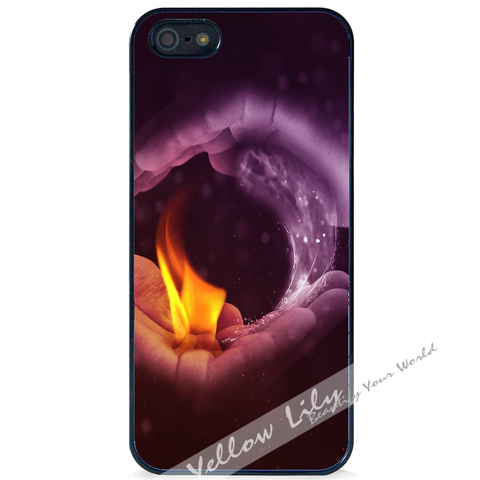 For Apple iPhone 5 5G 5S - Yin Yang Fire Case Phone Cover Y01478
