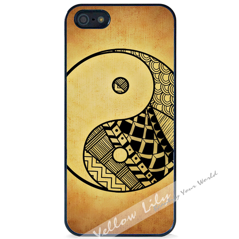 For Apple iPhone 5 5G 5S - Yin Yang Grunge Art Case Phone Cover Y01479
