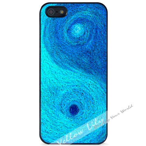 For Apple iPhone 5 5G 5S - Yin Yang Blue Case Phone Cover Y01481