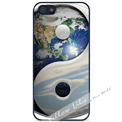 For Apple iPhone 5 5G 5S - Yin Yang Earth Case Phone Cover Y01482