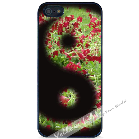 For Apple iPhone 4 4G 4S - Yin Yang Flowers Case Phone Cover Y01484