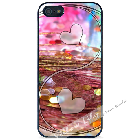 For Apple iPhone 5 5G 5S - Yin Yang Love Case Phone Cover Y01487