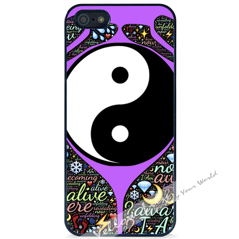 For Apple iPhone 5 5G 5S - Yin Yang Prayer Case Phone Cover Y01489