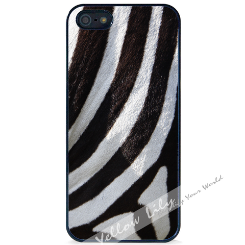 For Apple iPhone 5 5G 5S - Zebra Fur Case Phone Cover Y01492