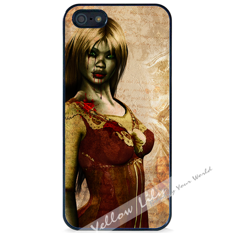 For Apple iPhone 5 5G 5S - Zombie Mistress Case Phone Cover Y01494
