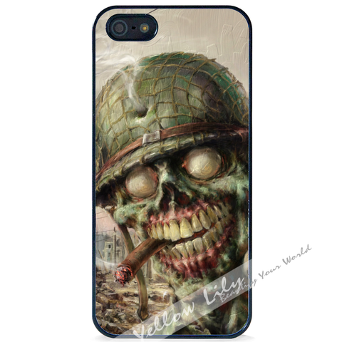 For Apple iPhone 5 5G 5S - Zombie Soldier Case Phone Cover Y01495