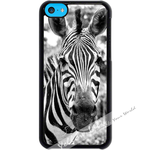 For Apple iPhone 5C - Zebra Real Case Phone Cover Y01056
