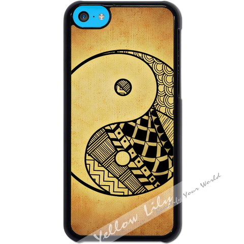 For Apple iPhone 5C - Yin Yang Grunge Art Case Phone Cover Y01479