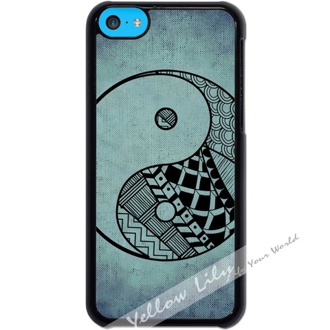For Apple iPhone 5C - Yin Yang Blue Art Case Phone Cover Y01480