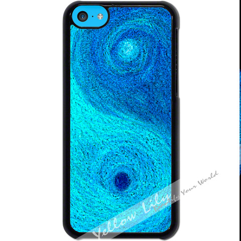 For Apple iPhone 5C - Yin Yang Blue Case Phone Cover Y01481
