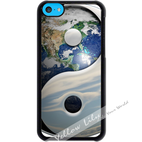 For Apple iPhone 5C - Yin Yang Earth Case Phone Cover Y01482
