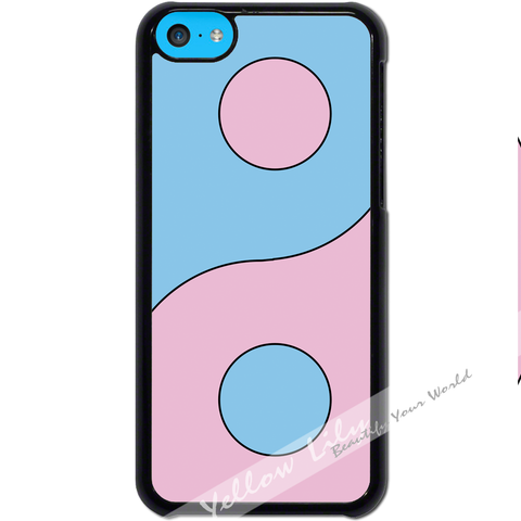 For Apple iPhone 5C - Yin Yang Pink Case Phone Cover Y01488