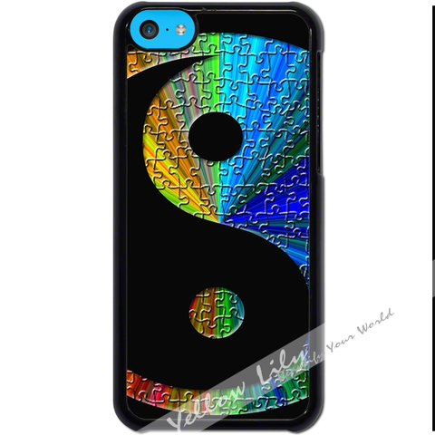 For Apple iPhone 5C - Yin Yang Puzzle Case Phone Cover Y01490