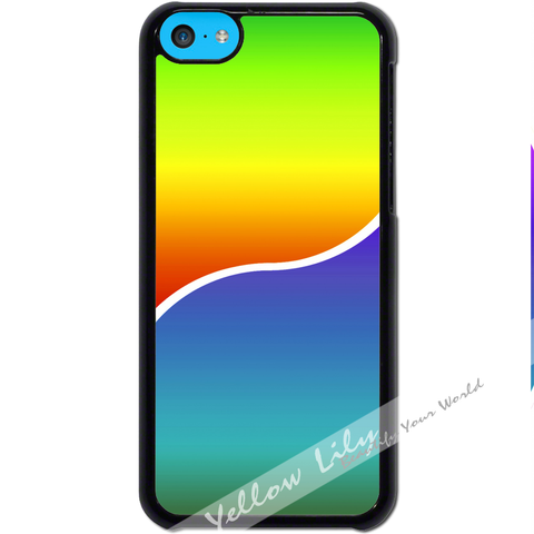 For Apple iPhone 5C - Yin Yang Rainbow Case Phone Cover Y01491