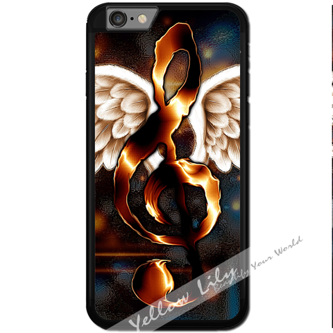 Fits Apple iPhone 6 & 6S - Angel Wings Music Case Phone Cover Y01187