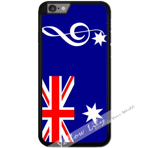 Fits Apple iPhone 6 & 6S - AUS Flag Music Case Phone Cover Y01192