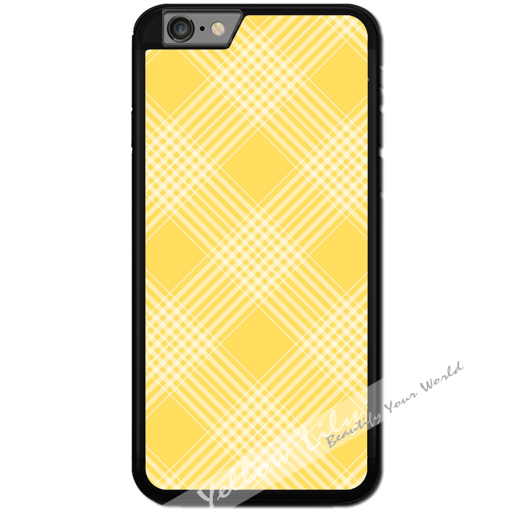 Fits Apple iPhone 6 & 6S - Yellow Checkers Case Phone Cover Y01467