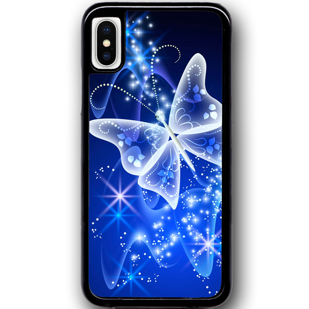 buy online b11bb 29597 Fits Apple iPhone X - Butterfly Sparkle Case Phone Cover Y00028