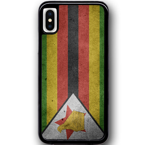 Fits Apple iPhone X - Zimbabwe Flag Case Phone Cover Y00185