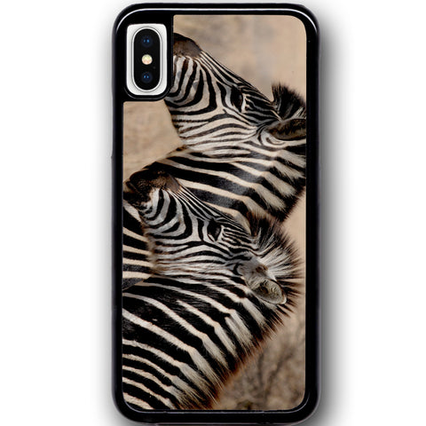 Fits Apple iPhone X - Zebra Baby Mum Case Phone Cover Y00362