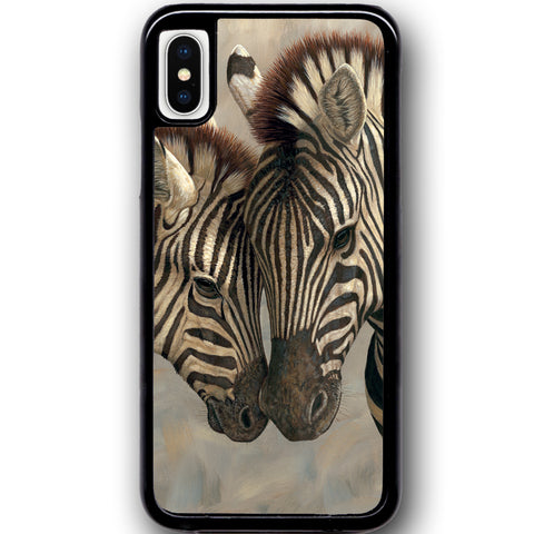 Fits Apple iPhone X - Zebra Love Baby Case Phone Cover Y00369