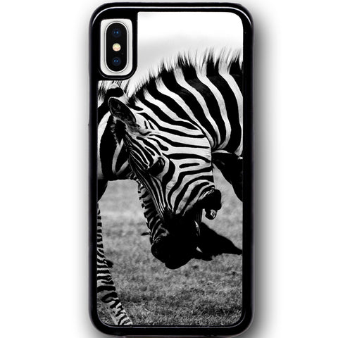 Fits Apple iPhone X - Zebra Fight Case Phone Cover Y00373